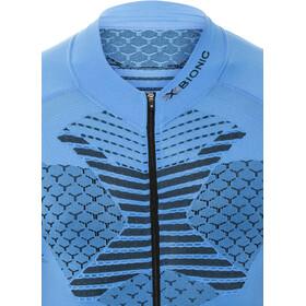 X-Bionic Twyce Biking Shirt SS Full Zip Men French Blue/Black